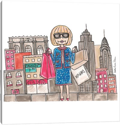 Anna Wintour In NYC Canvas Art Print