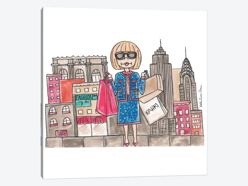 Anna Wintour In NYC by Kahri 1-piece Canvas Print