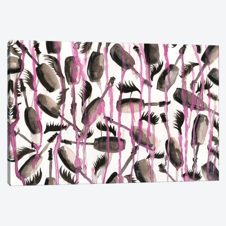 Mascara Drip Canvas Print #KHR93} by Kahri Canvas Artwork
