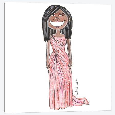 Michelle Obama Canvas Print #KHR94} by Kahri Art Print