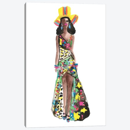 Chanel Iman, Moschino Resort '17 Canvas Print #KHR99} by Kahri Canvas Wall Art