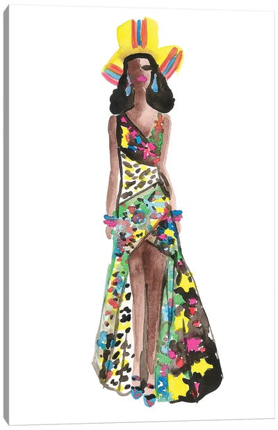 Chanel Iman, Moschino Resort '17 Canvas Art Print
