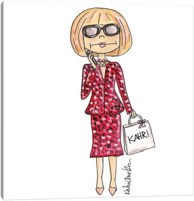 Anna Wintour Canvas Art Print