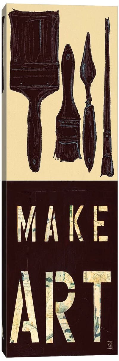 Make Art Canvas Art Print