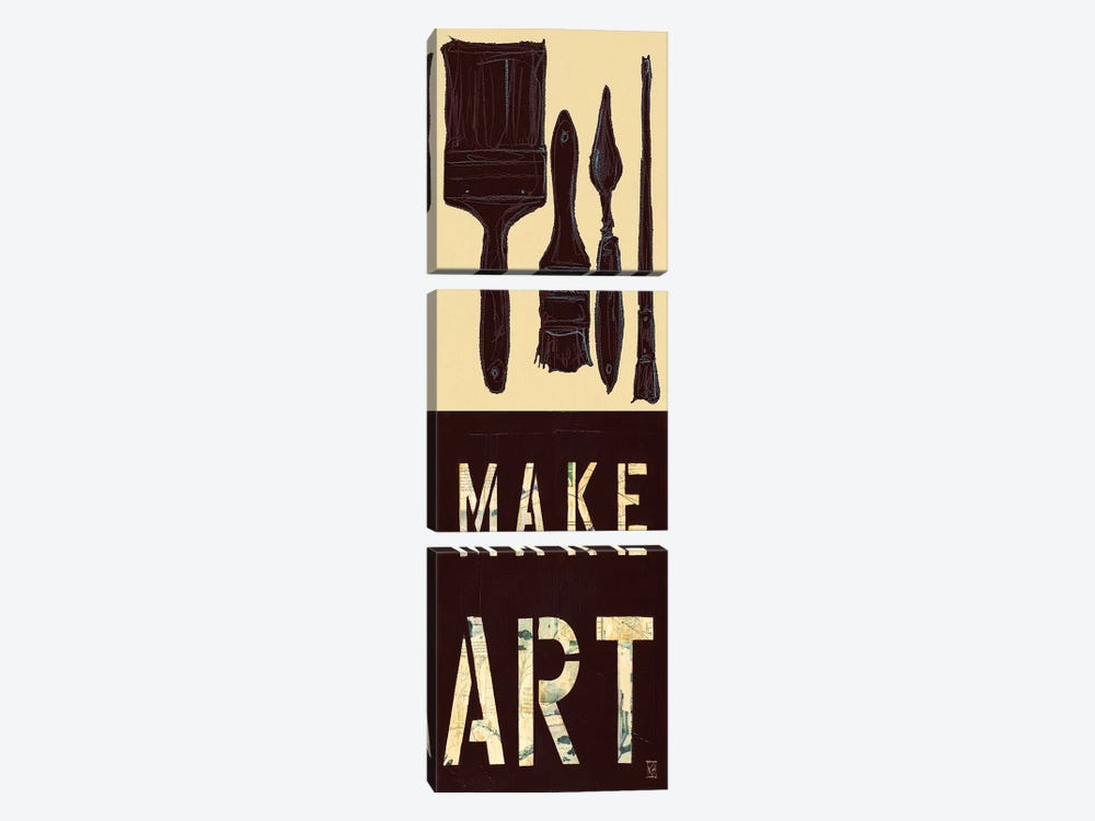 Make Art by Kelsey Hochstatter 3-piece Canvas Wall Art