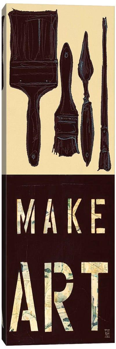 Make Art Canvas Art Print