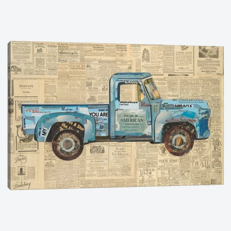 George's '53 Ford Canvas Print #KHS27} by Kelsey Hochstatter Art Print