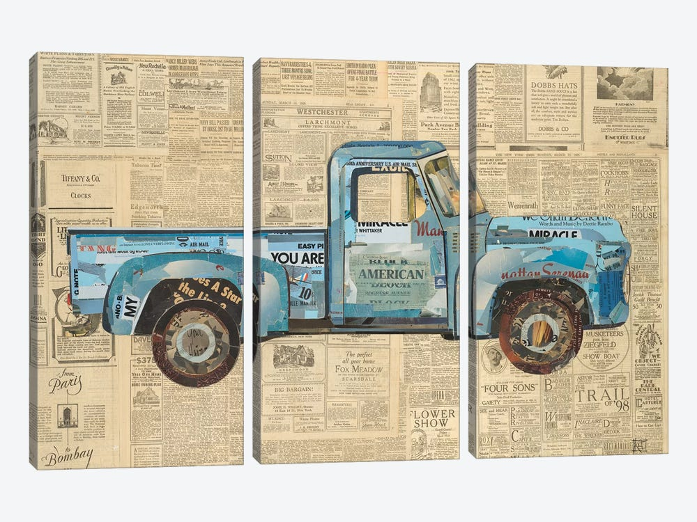 George's '53 Ford by Kelsey Hochstatter 3-piece Art Print