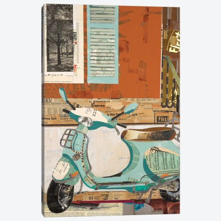 That Vespa Canvas Print #KHS28} by Kelsey Hochstatter Canvas Wall Art