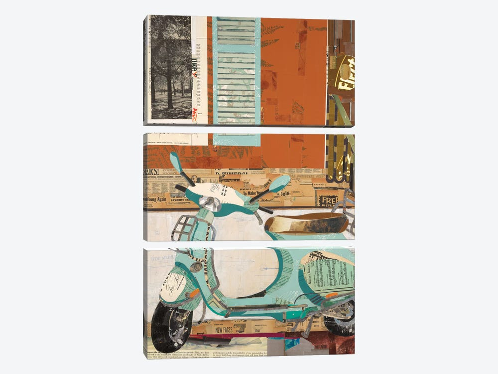 That Vespa by Kelsey Hochstatter 3-piece Canvas Artwork