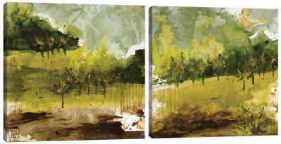 Griffith Park Diptych Canvas Art Print