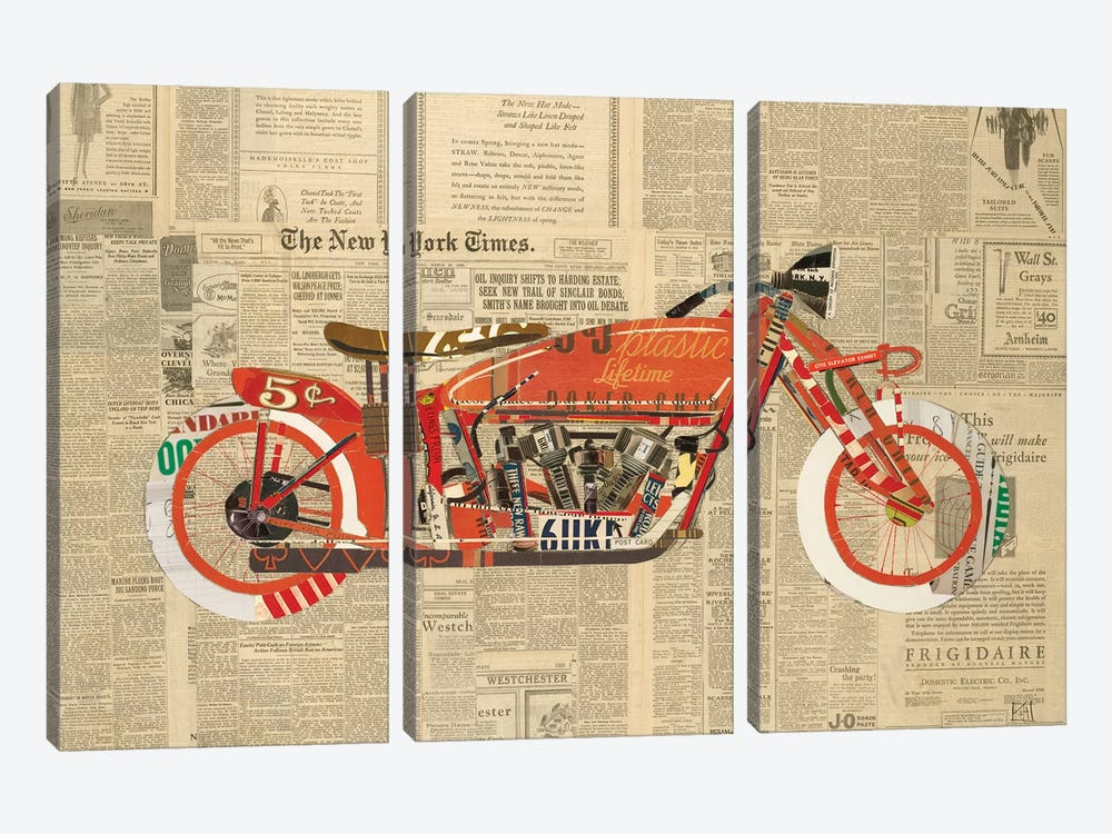 Vintage Red by Kelsey Hochstatter 3-piece Canvas Artwork