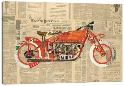 Vintage Red Canvas Art Print