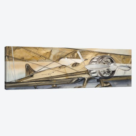Biplane Canvas Print #KHS37} by Kelsey Hochstatter Canvas Art