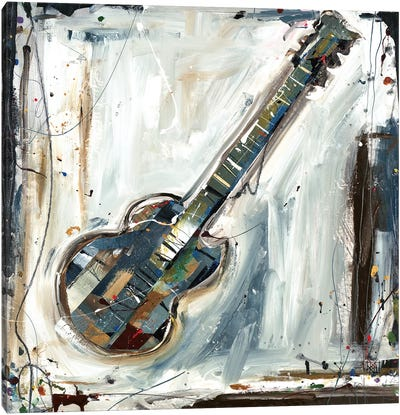 Imprint Guitar Canvas Art Print