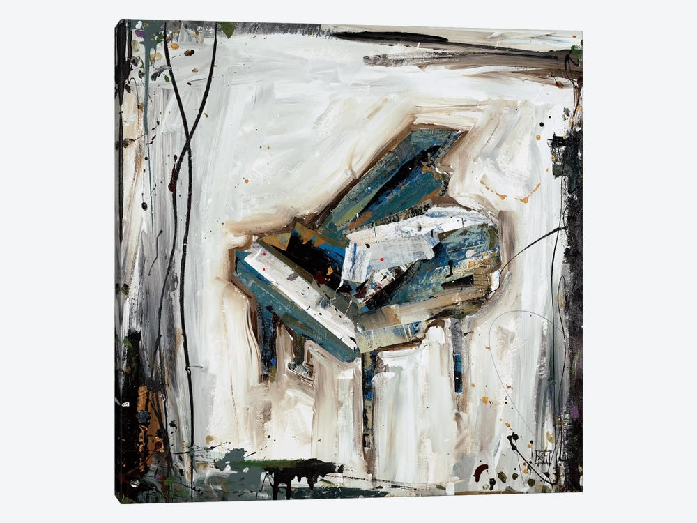 Imprint Piano 1-piece Canvas Art Print