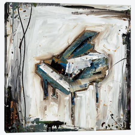Imprint Piano 3-Piece Canvas #KHS7} by Kelsey Hochstatter Canvas Print