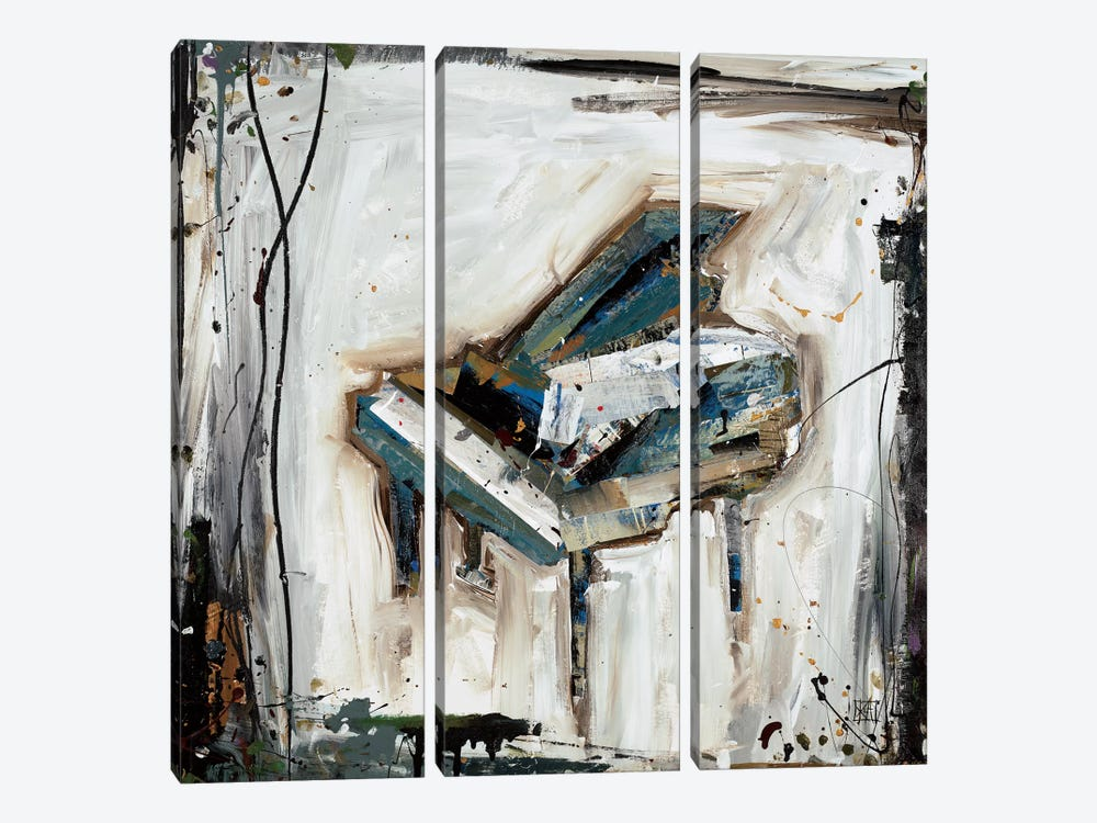 Imprint Piano by Kelsey Hochstatter 3-piece Canvas Print