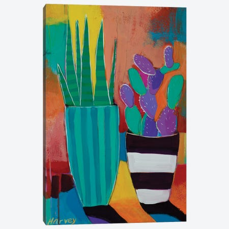 On The Patio Canvas Print #KHV15} by Kristin Harvey Canvas Print