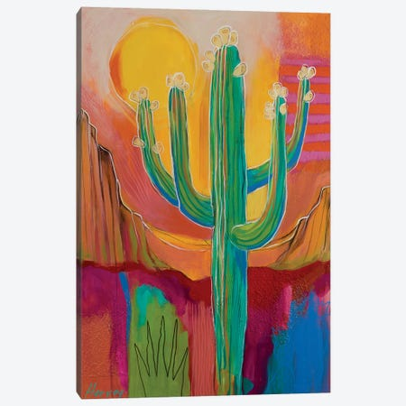 Saguaro Buds Canvas Print #KHV19} by Kristin Harvey Canvas Art
