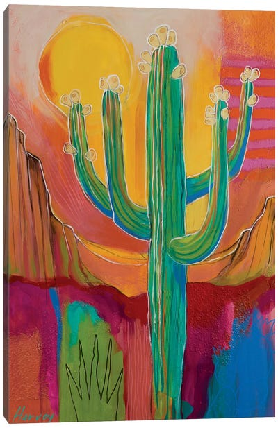 Saguaro Buds Canvas Art Print