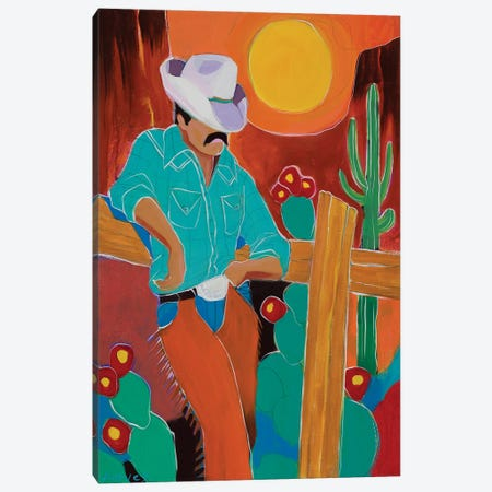 A Hard Day's Ride Canvas Print #KHV1} by Kristin Harvey Art Print