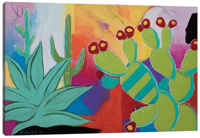 The Agave And The Pear Canvas Art Print