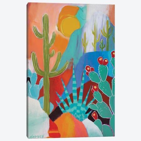 Desert Showers Canvas Print #KHV8} by Kristin Harvey Canvas Art Print