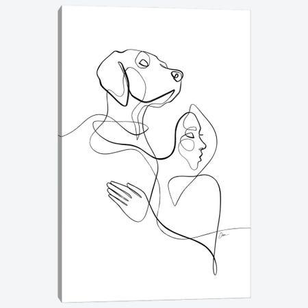 Honor The Bond No. 5 / Dog & Woman Canvas Print #KHY103} by Dane Khy Canvas Print