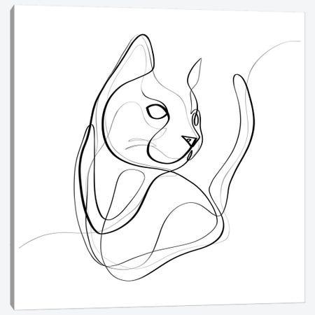 Cat Canvas Print #KHY10} by Dane Khy Canvas Print
