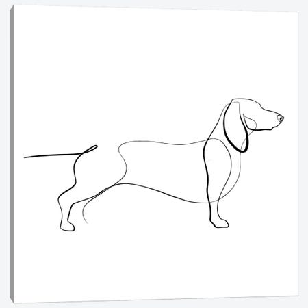 Dachshund Canvas Print #KHY14} by Dane Khy Canvas Artwork