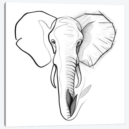 Distinct Elephant Canvas Print #KHY16} by Dane Khy Canvas Art