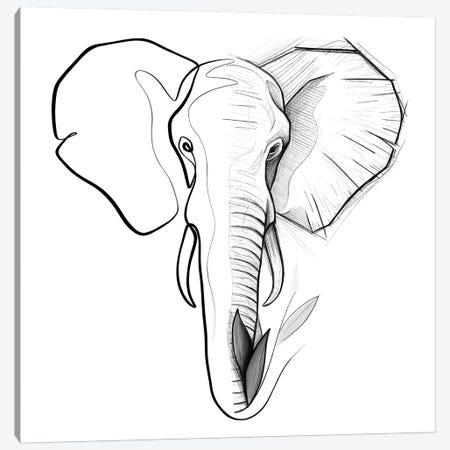 Distinct Elephant Canvas Print #KHY16} by Dane Khy Canvas Art