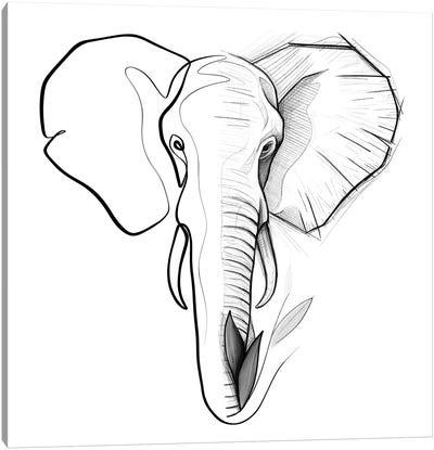 Distinct Elephant Canvas Art Print