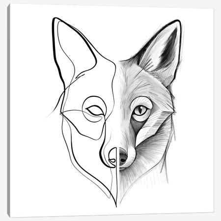 Distinct Fox Canvas Print #KHY17} by Dane Khy Canvas Wall Art