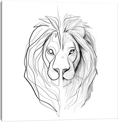 Distinct Lion Canvas Art Print