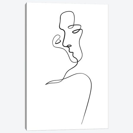 Aligned at the Lips Canvas Print #KHY1} by Dane Khy Canvas Art