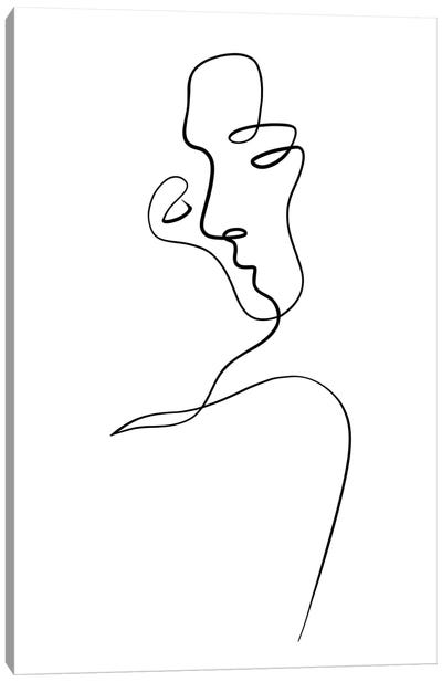Aligned at the Lips Canvas Art Print