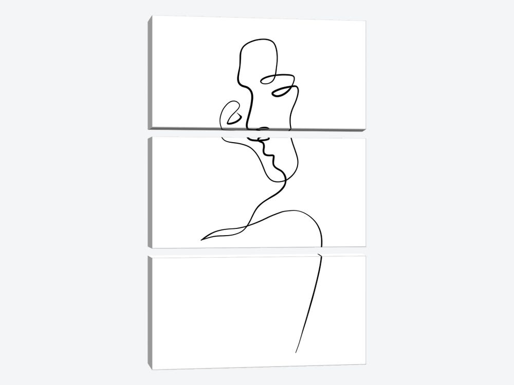 Aligned at the Lips by Dane Khy 3-piece Canvas Art Print