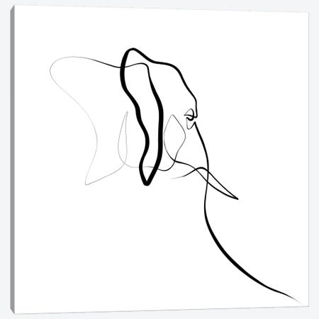 Elephant I Canvas Print #KHY20} by Dane Khy Canvas Wall Art