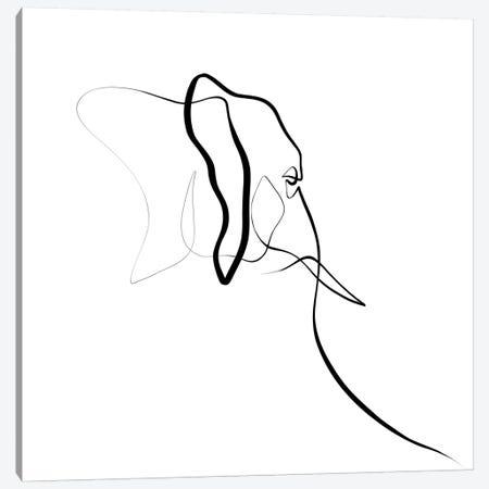 Elephant I Canvas Print #KHY20} by Dane Khy Canvas Wall Art