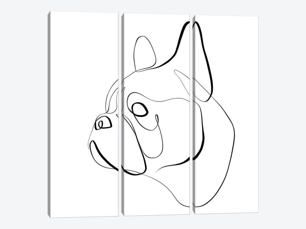French Bulldog I by Dane Khy 3-piece Canvas Art Print