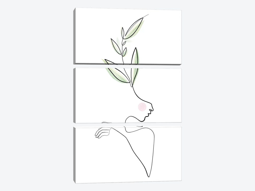 Healing Beauties by Dane Khy 3-piece Canvas Wall Art