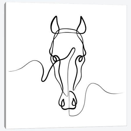 Horse II Canvas Print #KHY29} by Dane Khy Canvas Artwork