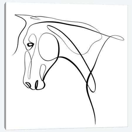 Horse III Canvas Print #KHY30} by Dane Khy Art Print