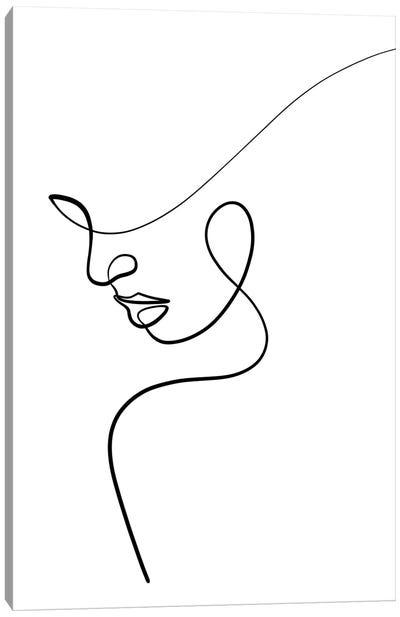 One Line Woman Canvas Art Print