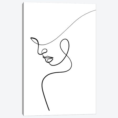 One Line Woman Canvas Print #KHY38} by Dane Khy Art Print
