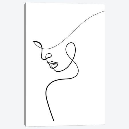 One Line Woman Canvas Print #KHY38} by Dane Khy Art Print