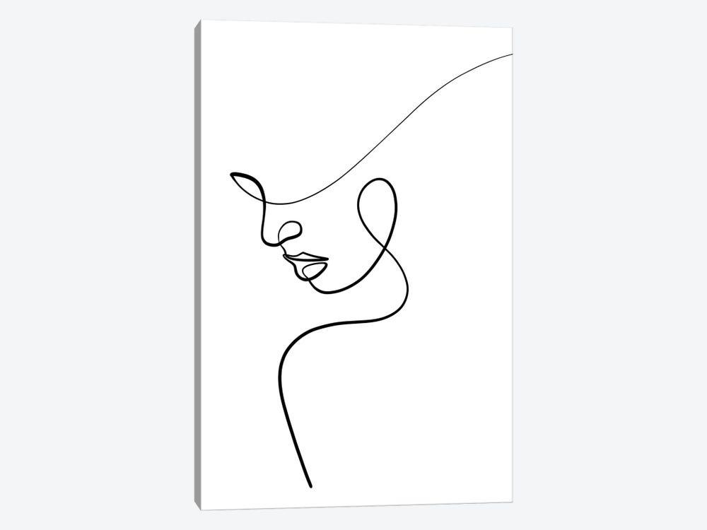 One Line Woman by Dane Khy 1-piece Canvas Art Print