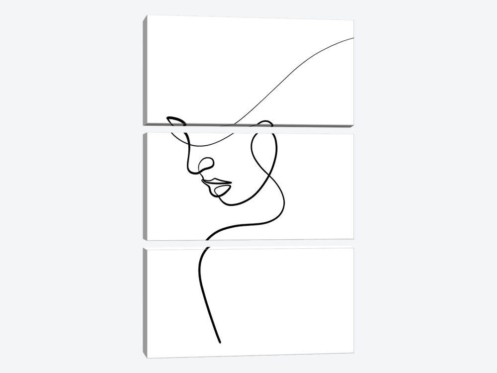 One Line Woman by Dane Khy 3-piece Art Print